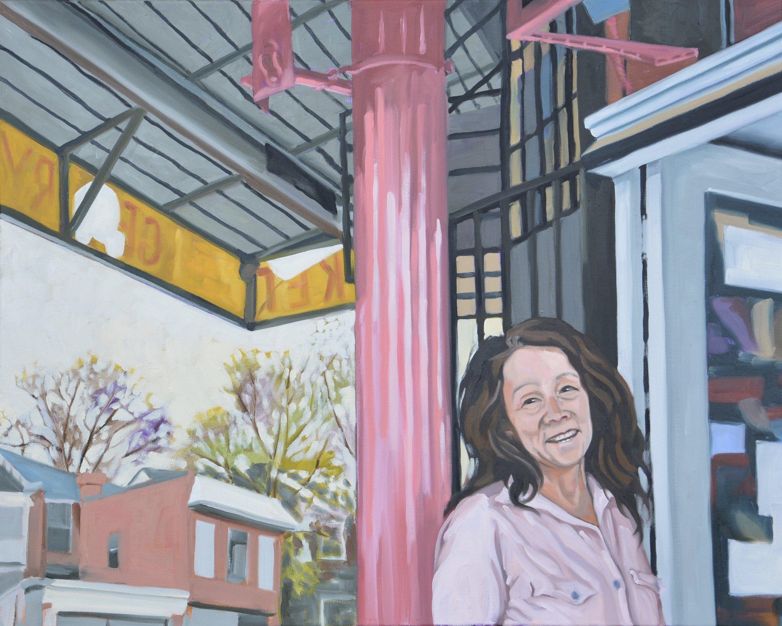 """Copy of Good Neighbors (Maria), 30x24"""", oil on canvas, 2017"""