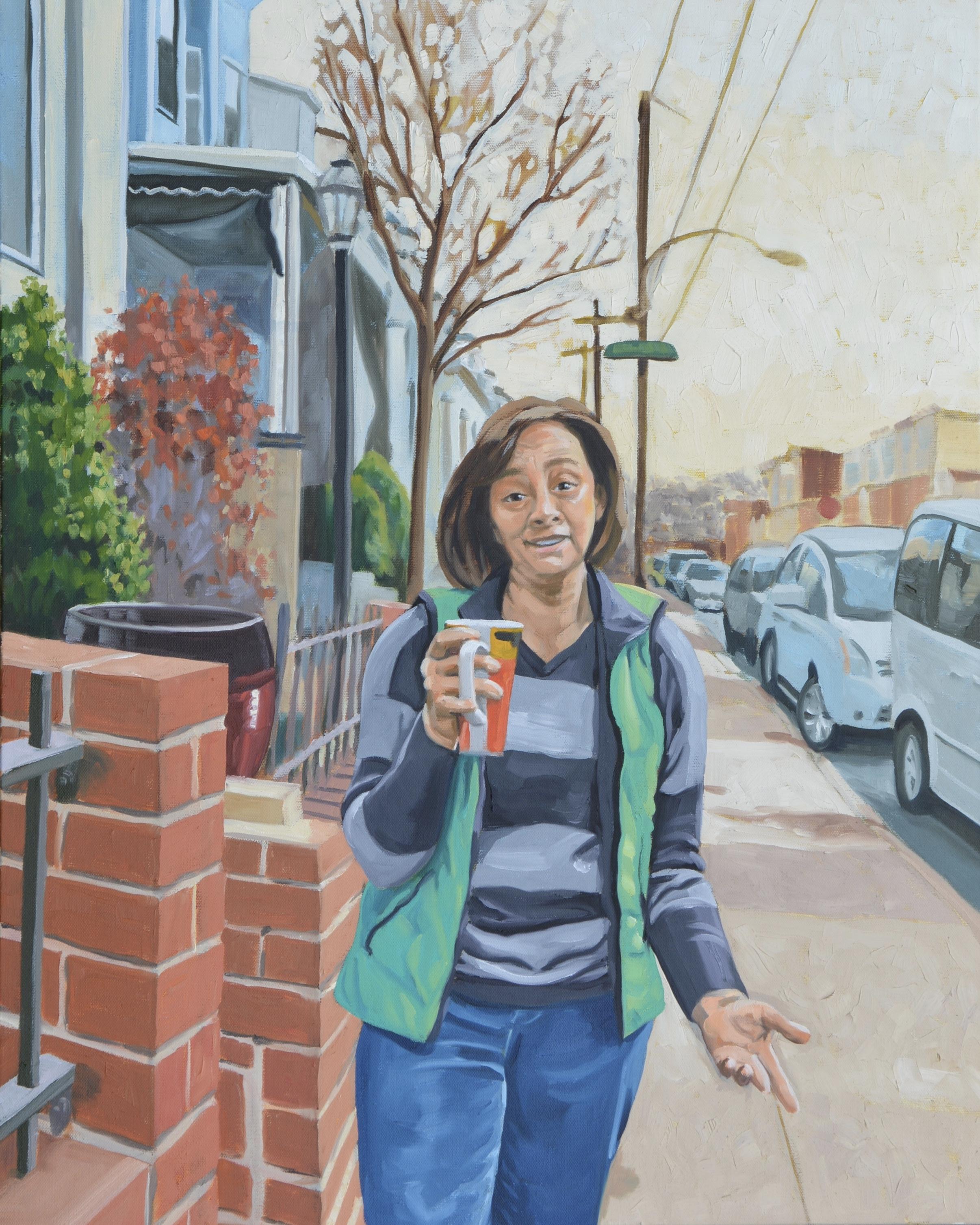 """Copy of Good Neighbors (Susan), 24x30"""", oil on canvas, 2017"""