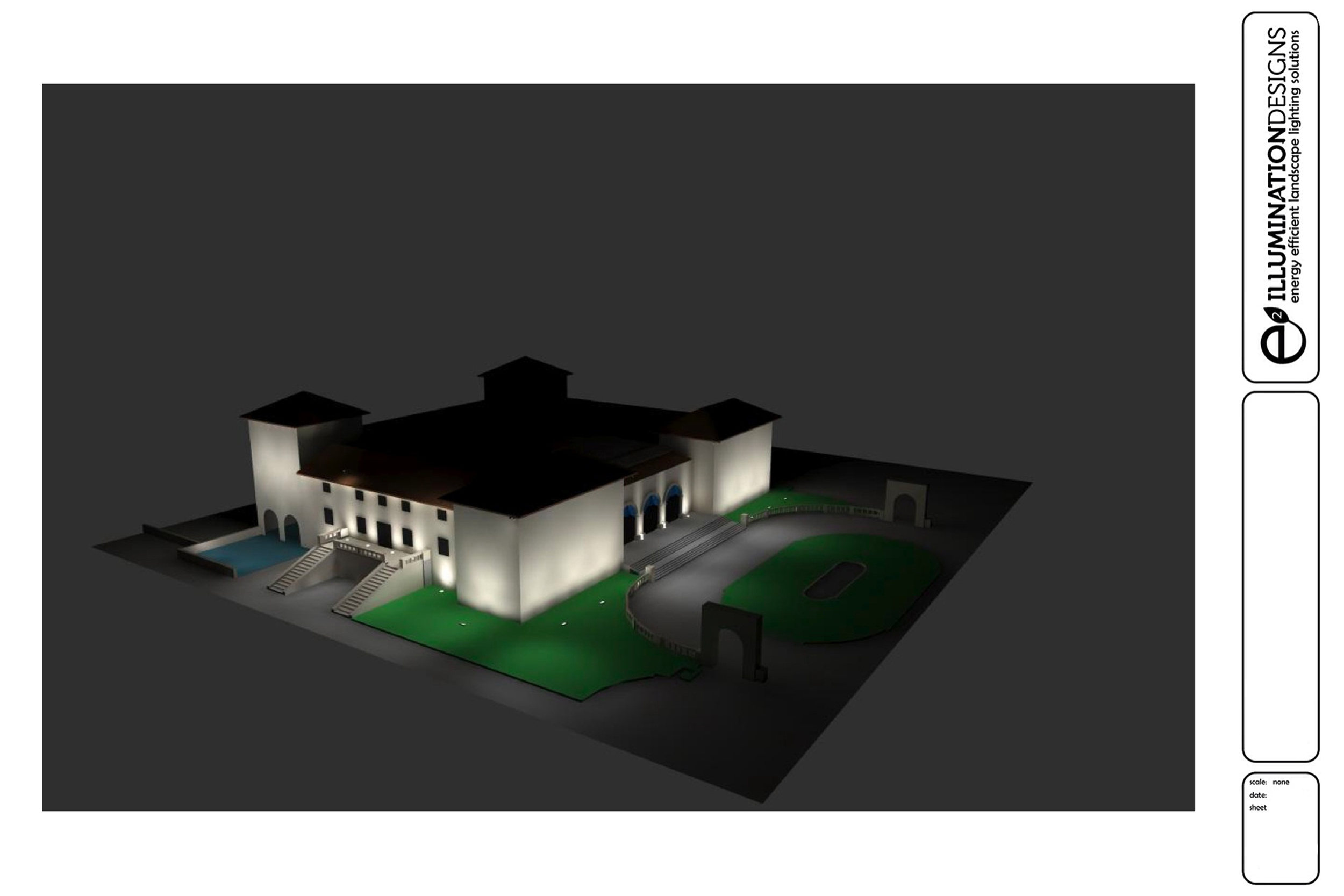 E2 Illumination Designs plan / illustration created by ALA