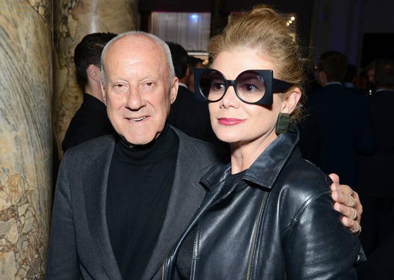 El arquitecto británico Norman Foster y su esposa la doctora Elena Ochoa