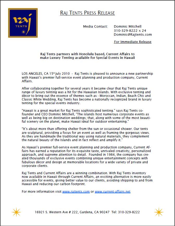 press release 7.15.10