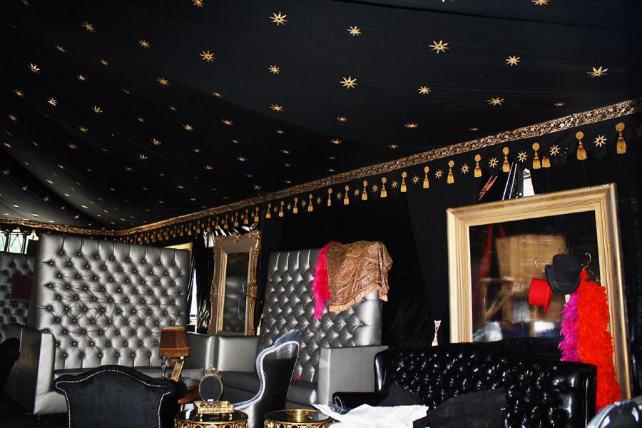 Raj Tents Luxury VIP Tent black gold Scream Awards 2011