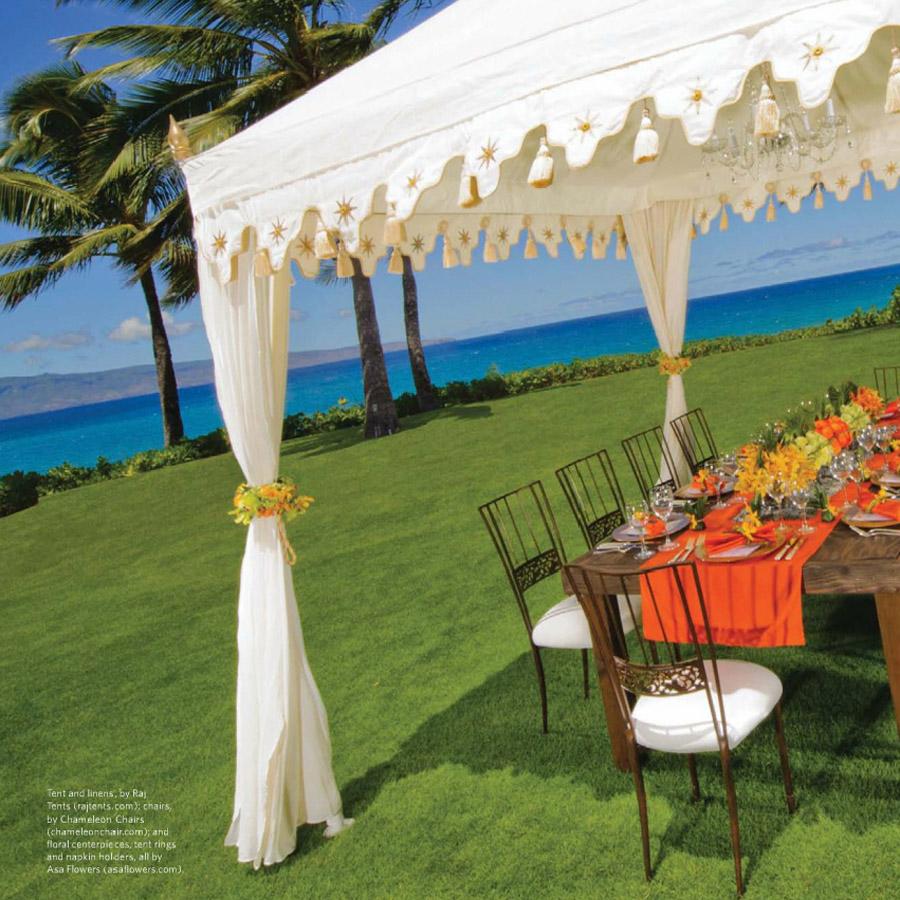 Ritz Carlton Weddings Cover Raj Tents Feature Jan-June 2012