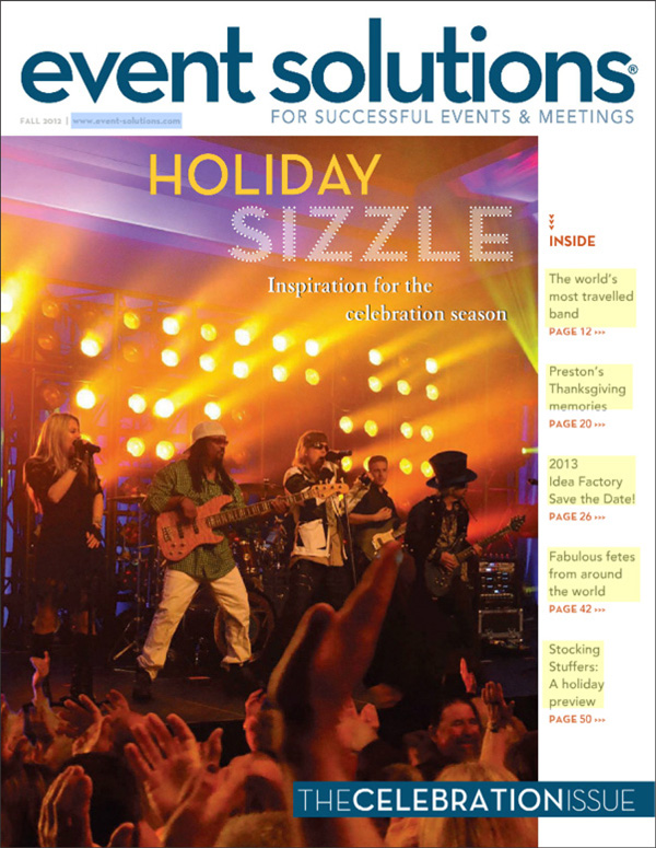 Event Solutions fall 2012 Cover