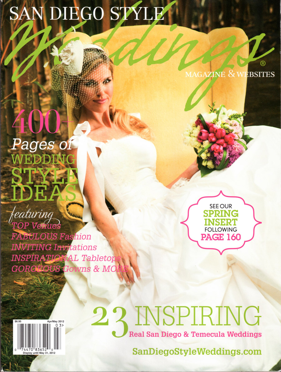 San Diego Style Weddings Cover May 2012