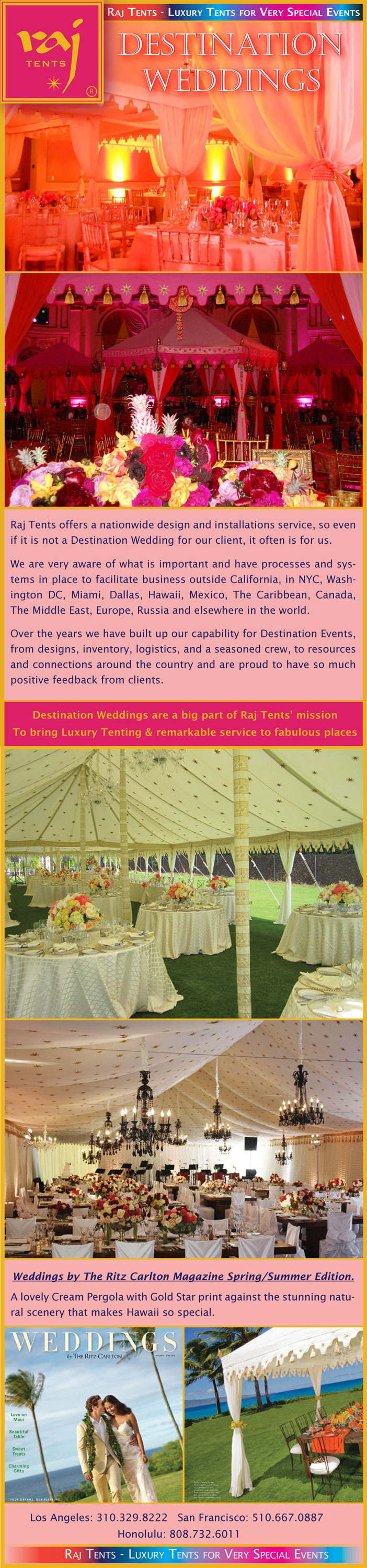 Raj Tents Destination Weddings