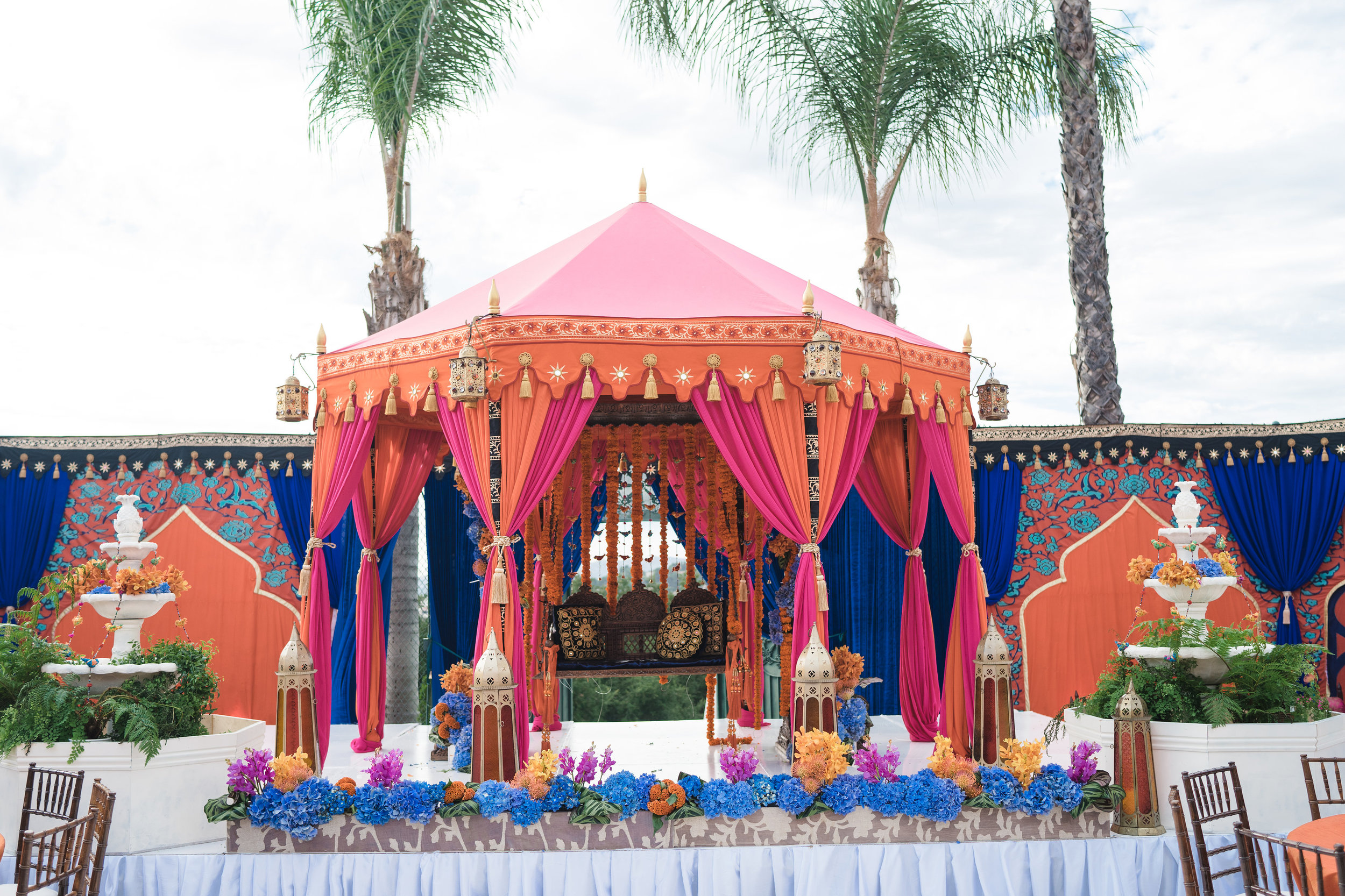 Premier indian weddings tents for mehndi, sangeet, wedding ceremony, or as an elegant mandap