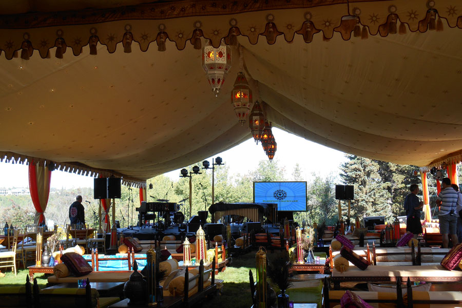 Sarah McLachlan Music Foundation  Raj Tents Themed Luxury Tent Stage with Lounge Edmonton 2013.jpg