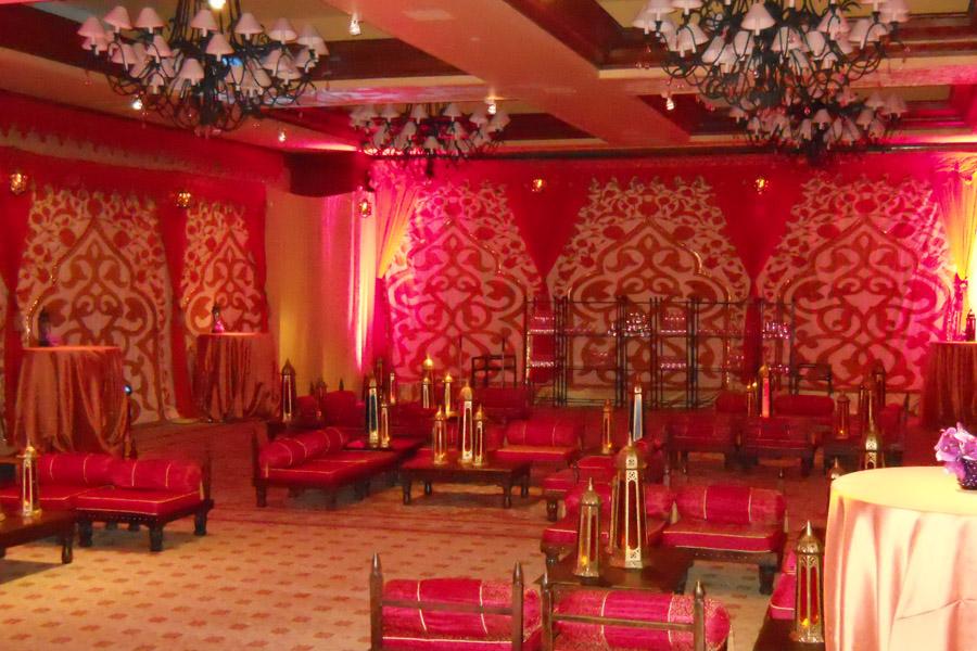 Mughal Arch ballroom transofrmation red and orange 2.jpg