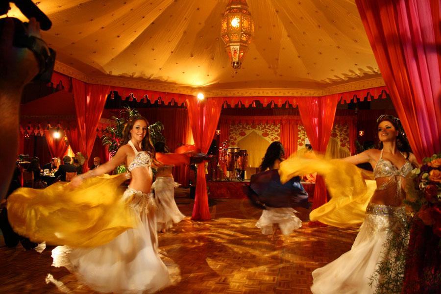 Raj Tents Dance Pavilion Belly Dancers Moroccan Ballroom Transformation David Tutera My Fair Wedding.jpg