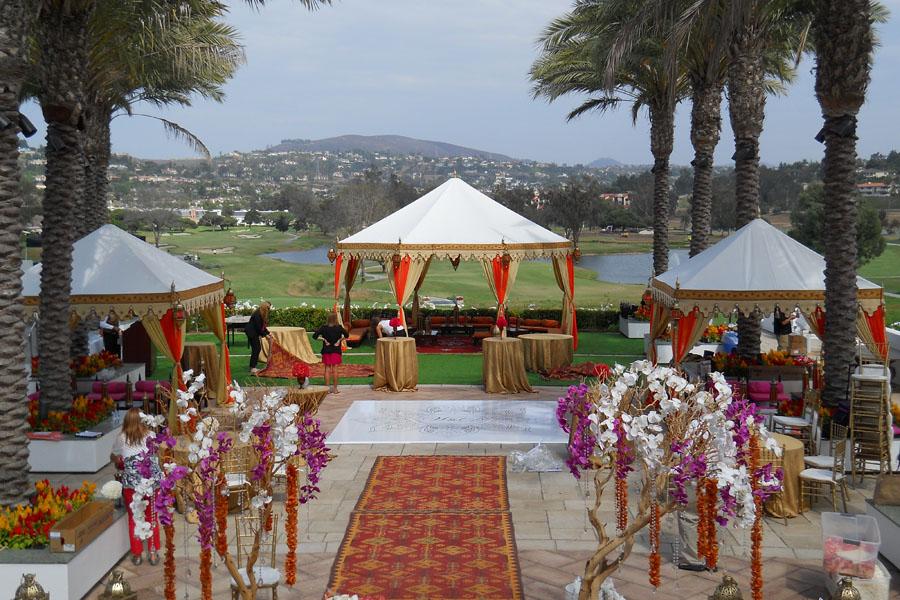 Raj Tents Cream and Honey glow Grand Pavilion and Pergola setting.jpg