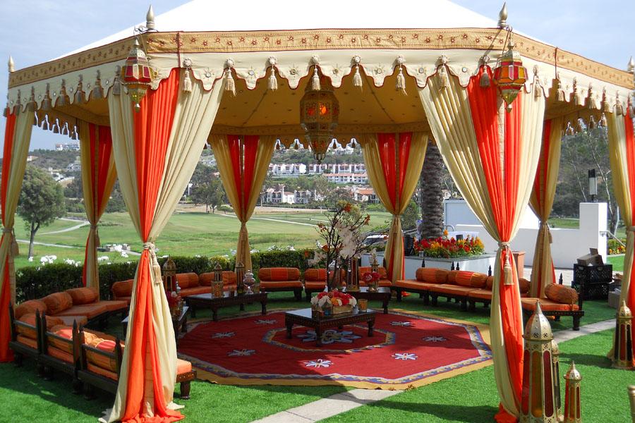 Raj Tents Honey glow Grand Pavilion with Ajmer lamp and lounge 4.jpg
