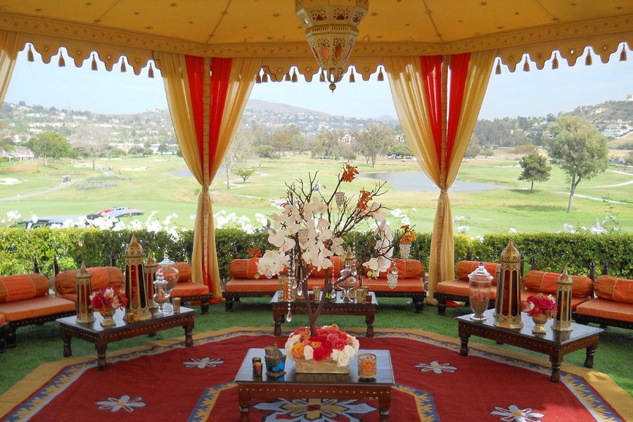 Raj Tents Honey glow Grand Pavilion with Ajmer lamp and lounge.jpg