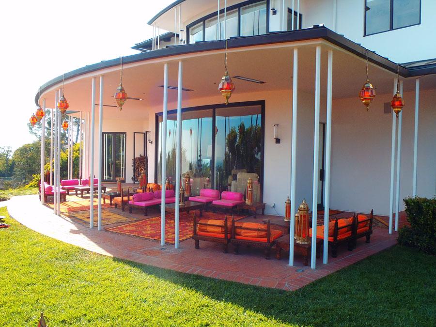 Raj Tents Home Decor themed treatment - Marakesh lamp installation on deck lounge.jpg