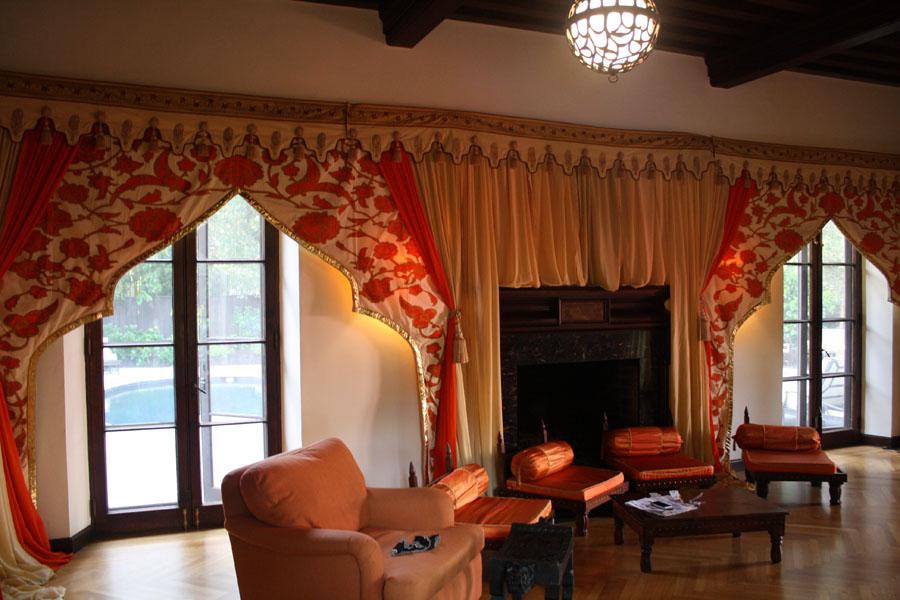 Raj Tents Home Decor themed treatment - Honey Glow mughal arch walls.jpg