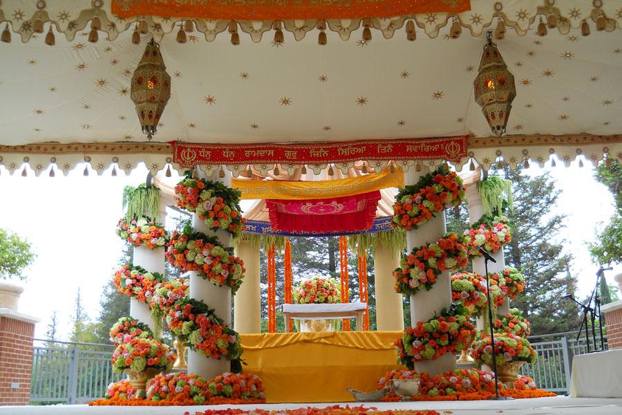 Raj Tents luxury tent Mandap Cream gold star print.jpg