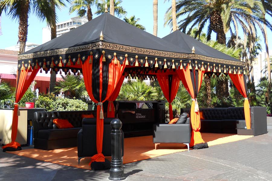 Raj Tents Double Black and Orange Pergola Bar Tent.jpg
