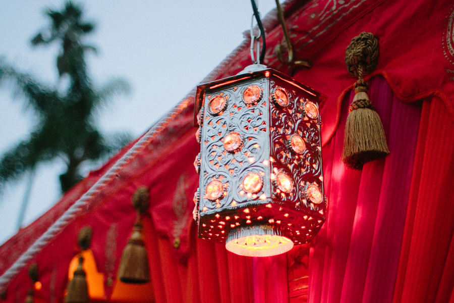 Silver Hex jewel lamp on red and pink Raj Tent.jpg