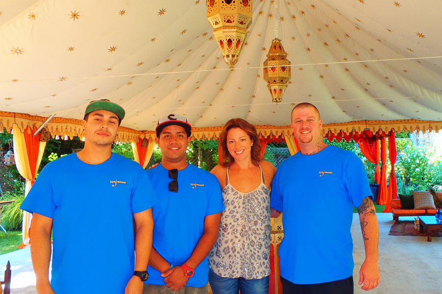 Raj Tents crew with Sarah McLauchlan 2012.jpg