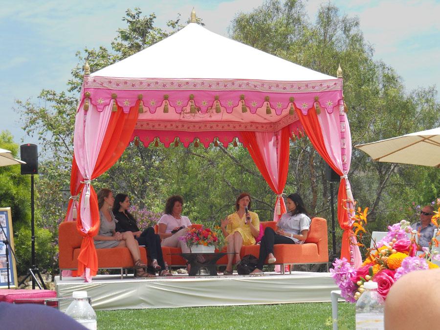Raj Tents luxury tent Pergola stage WIPA Malibu 2011.jpg