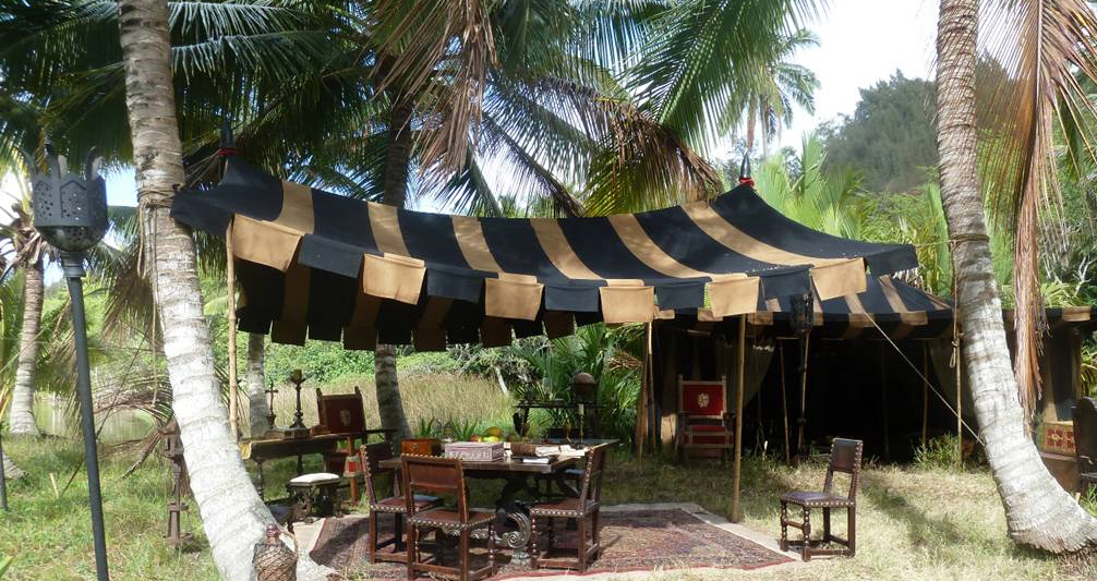 Raj Tents Pirates of the Caribbean Spanish camp set tents9.jpg