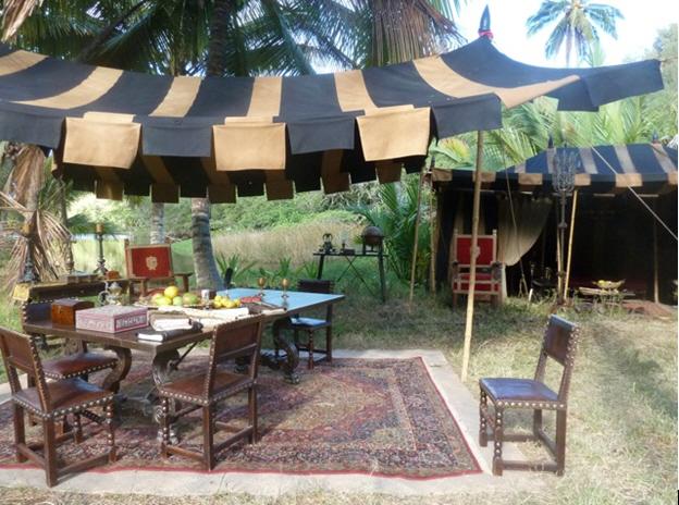 Raj Tents Pirates of the Caribbean Spanish camp set tents1.jpg