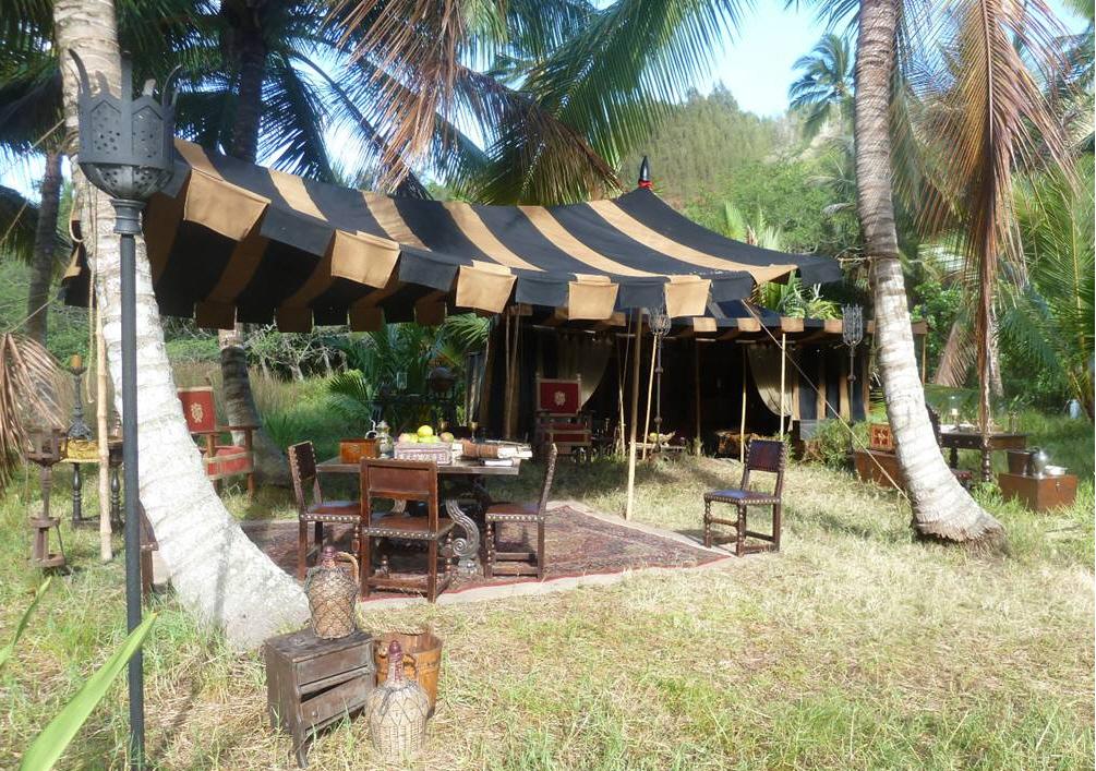 Raj Tents Pirates of the Caribbean Spanish camp set tents2.jpg