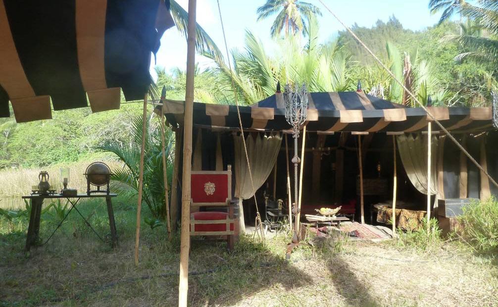 Raj Tents Pirates of the Caribbean Spanish camp set tents3.jpg