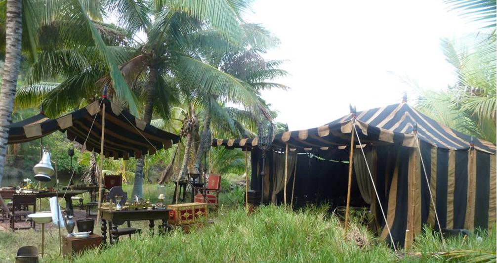 Raj Tents Pirates of the Caribbean Spanish camp set tents6.jpg