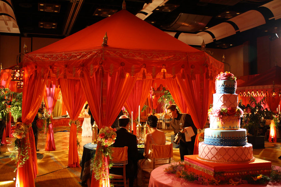 Raj Tents Sweet Heart Table Moroccan Wedding Tent David Tutera My Fair Wedding.jpg