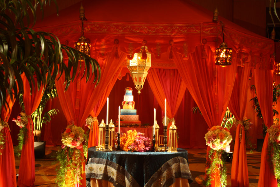 Raj Tents Moroccan Ballroom tranformation David Tutera My Fair Wedding wedding cake tent.jpg