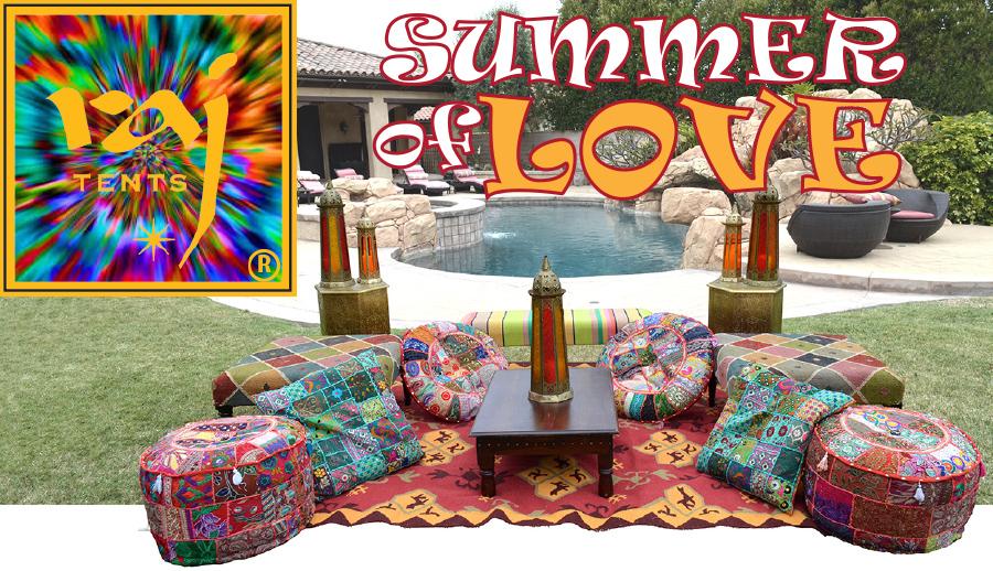 Boho Chic Raj Tents Summer of Love lounge