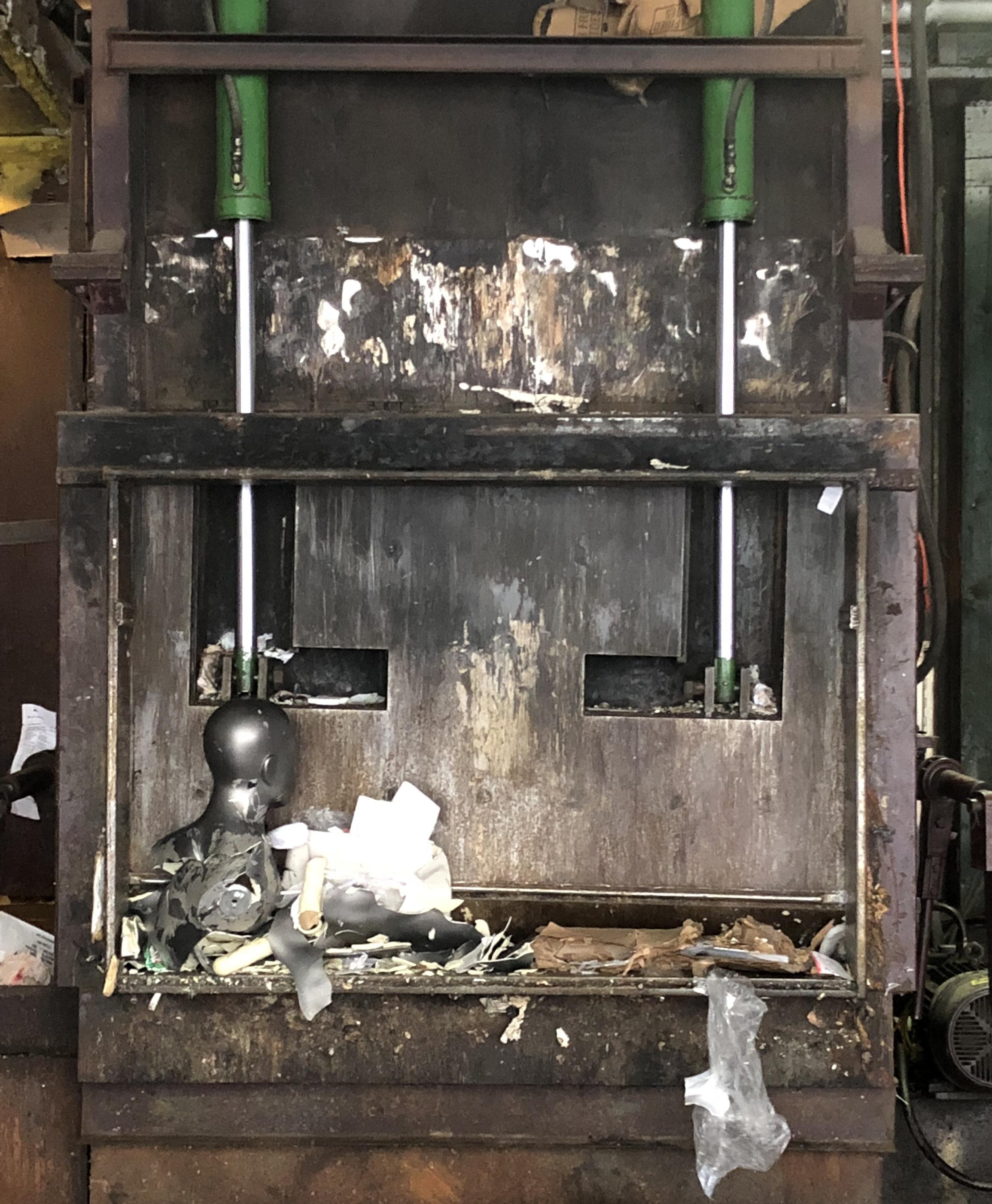 Manequin Trash Compactor