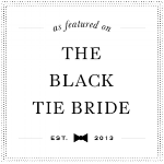 as featured on the black tie bride