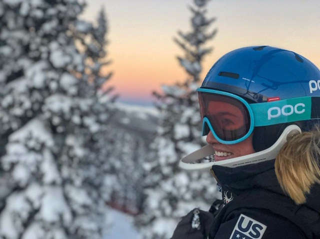 Galena Wardle  training in Copper Mountain, Colorado, November 2018.
