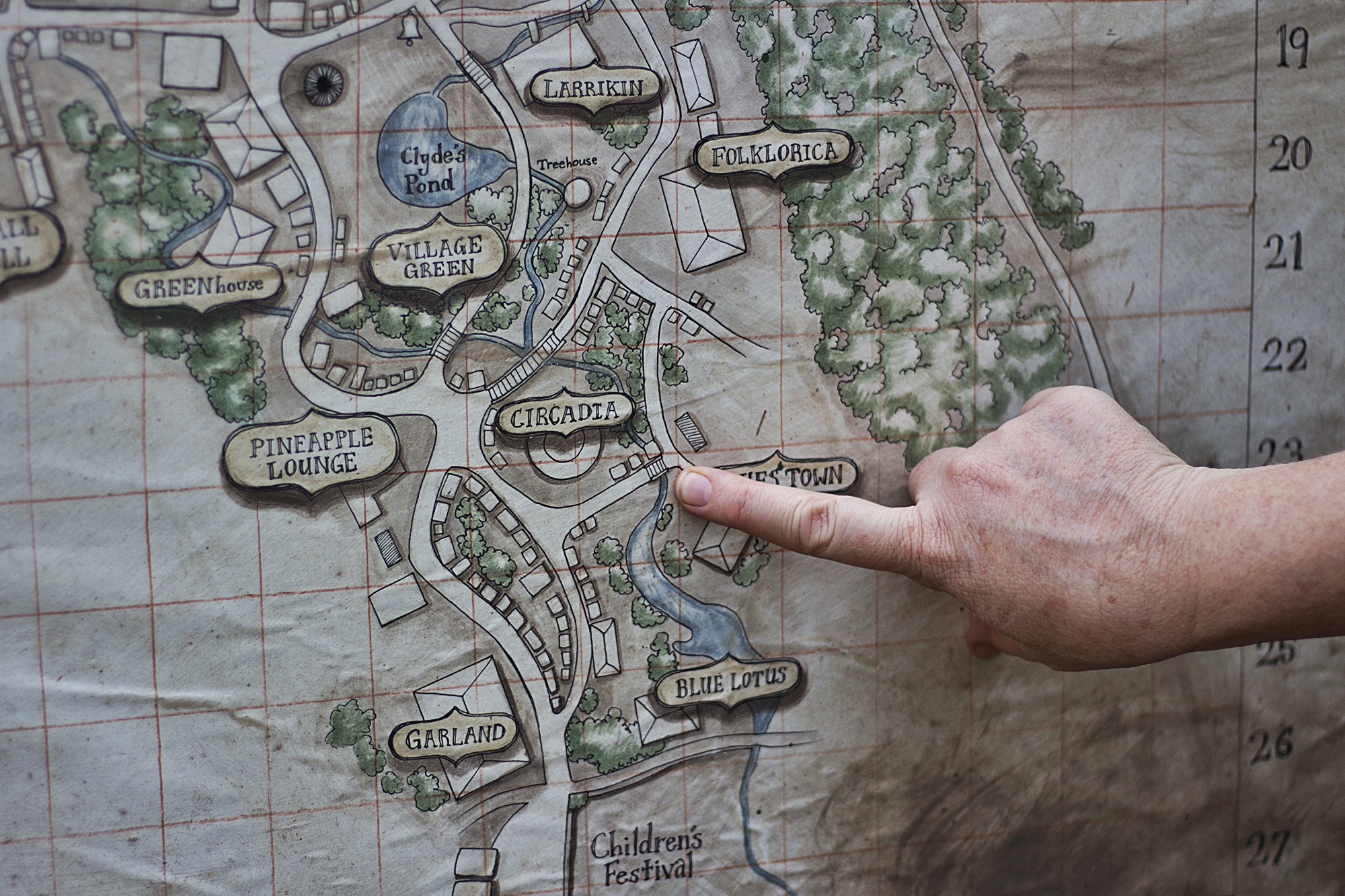 Woodfordia Map | Woodford Folk Festival 17/18