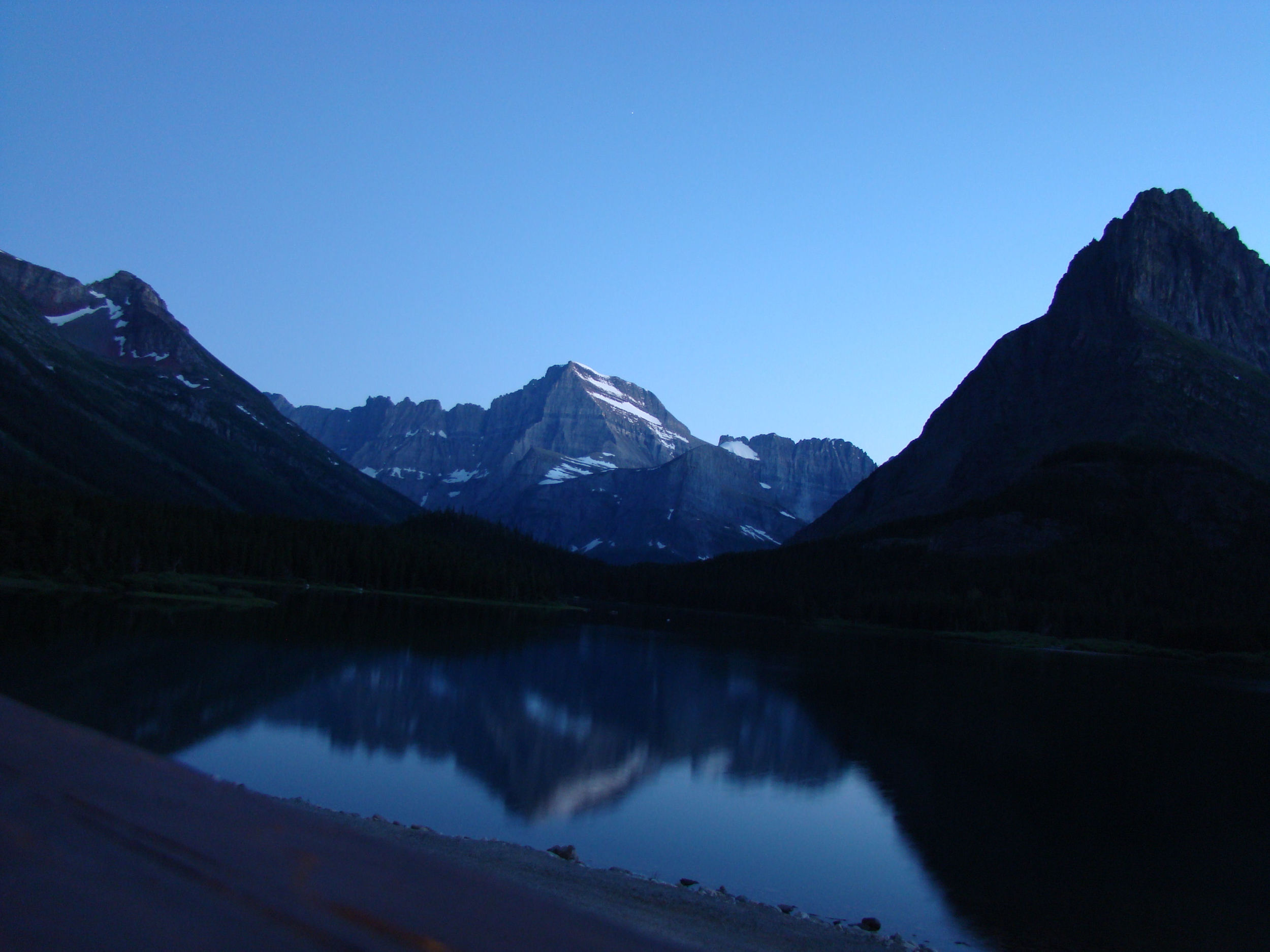 Night Falls, Many Glaciers, Glacier National Park, taken by P.E.