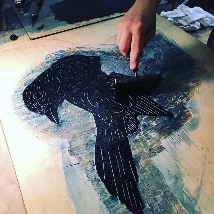 Inking Catbird.jpg