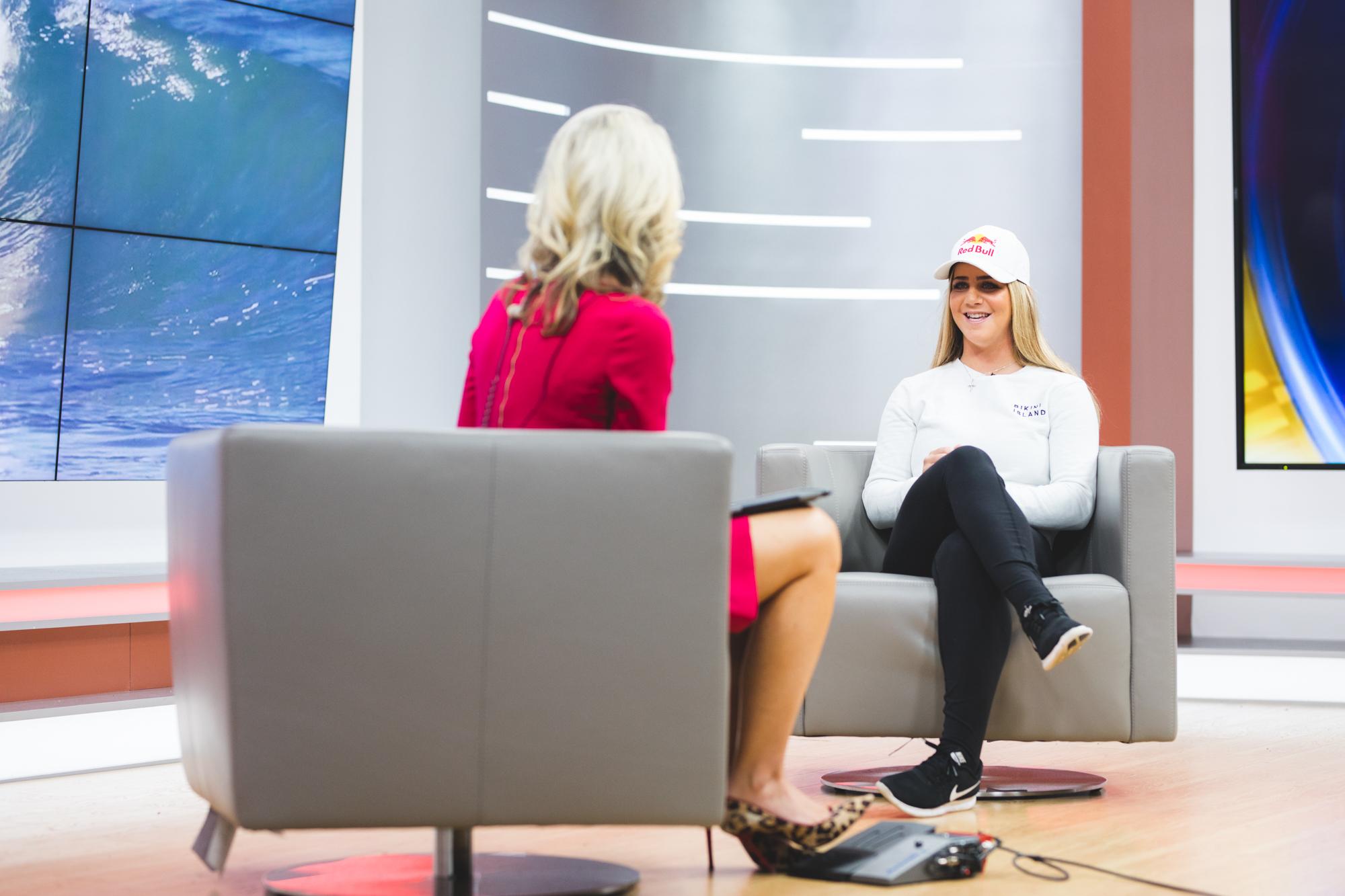 Caroline Marks on the morning talk show with Amy Kaufeldt, co-host of Good Day Orlando.