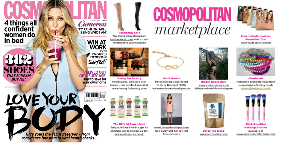 """Must Haves"" page of Cosmopolitan Magazine's April 2015 issue"