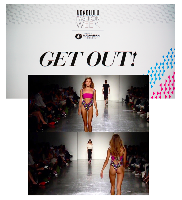 Mojobeebee featured in Honolulu Fashion Week Get Out! show November 2015