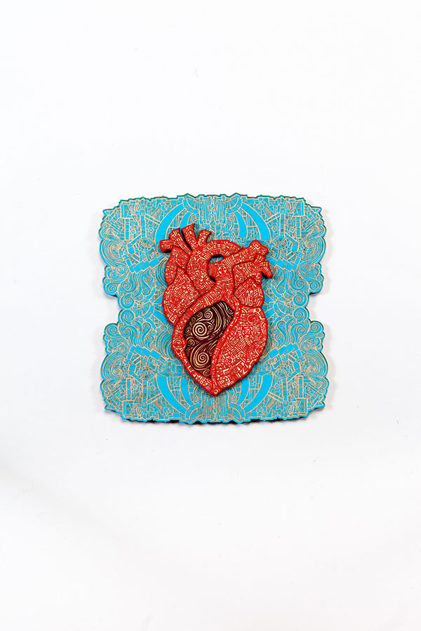 Fear in the heart Turquoise Red