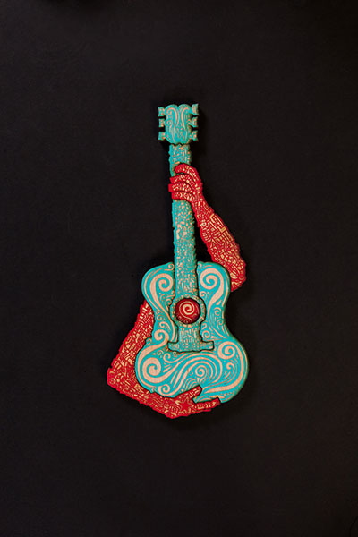 Musico Turquoise Red
