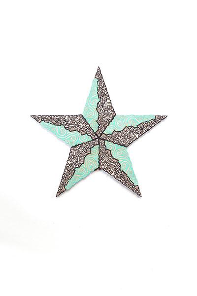 Estrella Turquoise Black