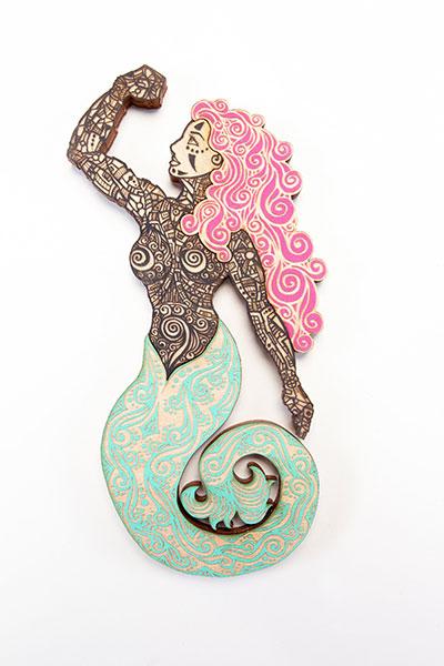 Sirena Black Turquoise Pink