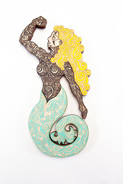 Sirena Black Turquoise Yellow