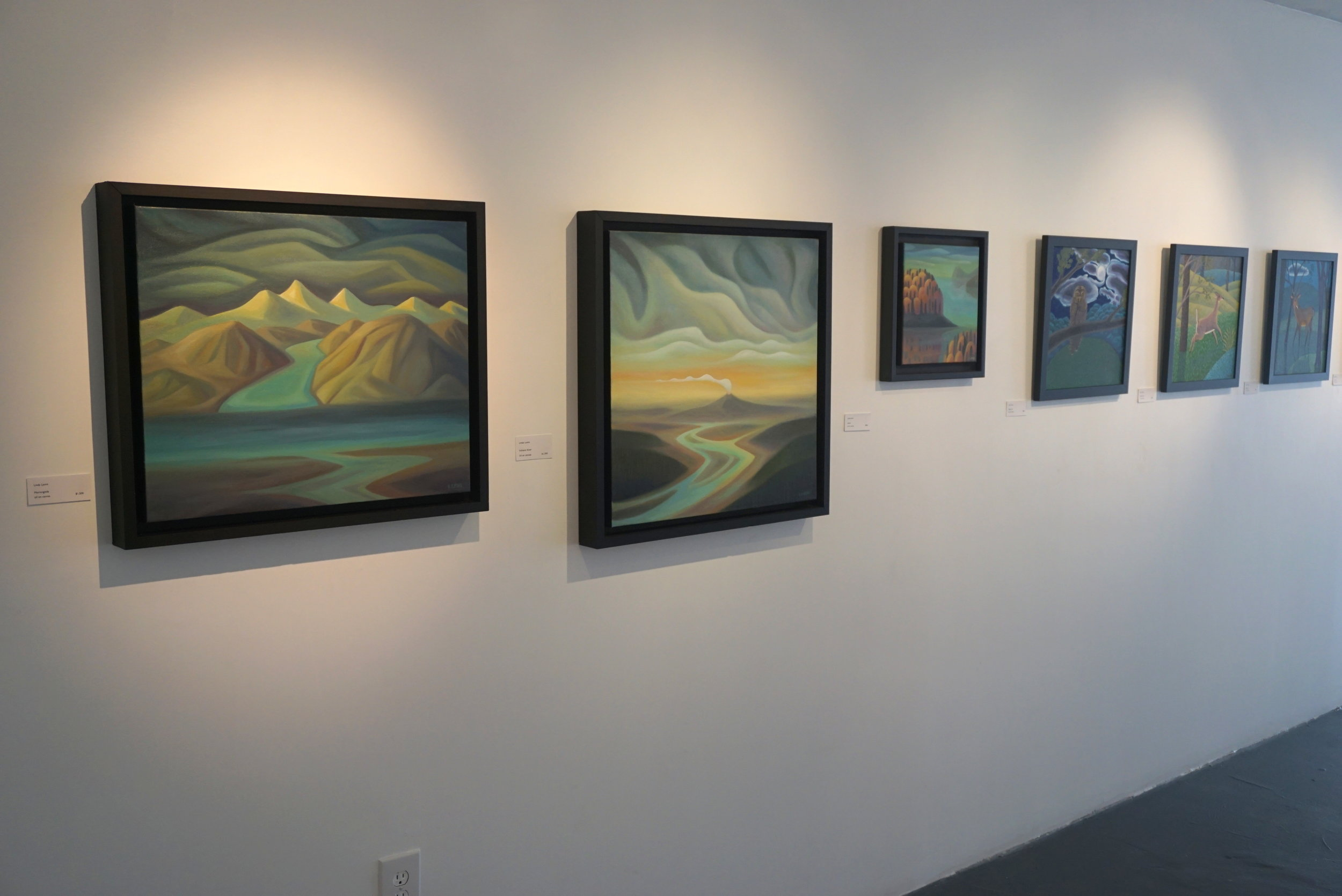 Works by Linda Lyons and Jane Troupe.