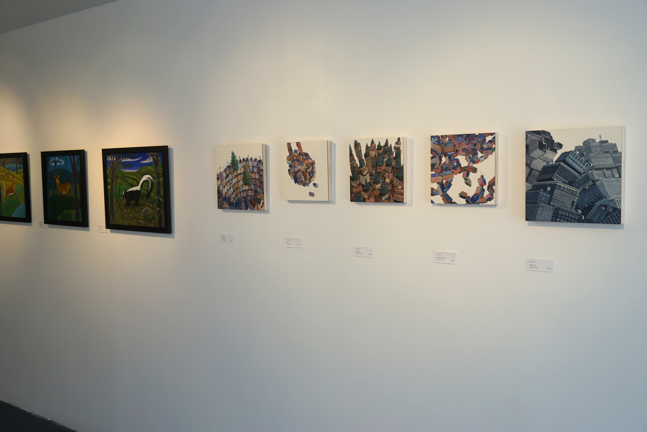Works by Jane Troupe (left) and Amy Casey (right)