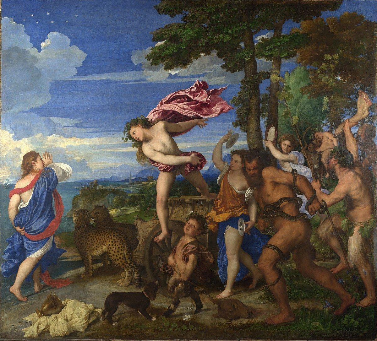 """Titian  """"Bacchus and Ariadne"""" (1522–1523)"""