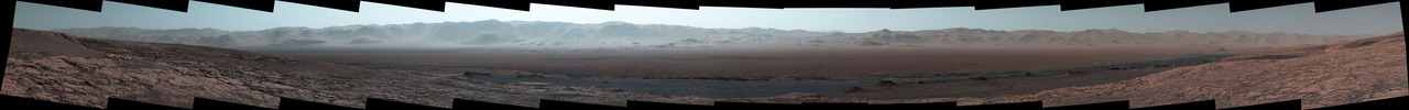 Panoramic photo of Mars taken by Curiosity.